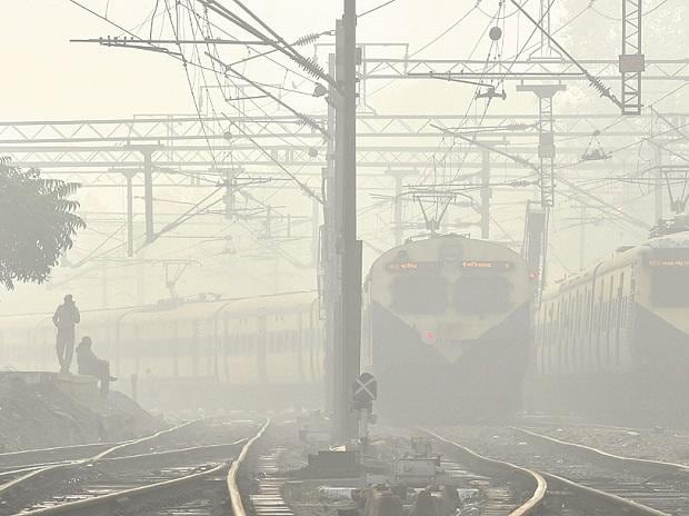 Trains in fog