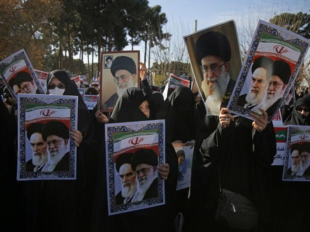 ens of thousands of Iranians took part in pro-government demonstrations in several cities across the country. Photo: AP | PTI