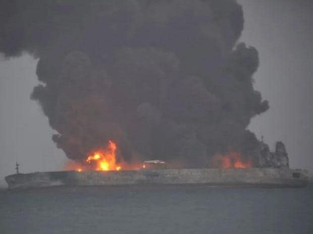 32 missing after tanker, freighter collide off China
