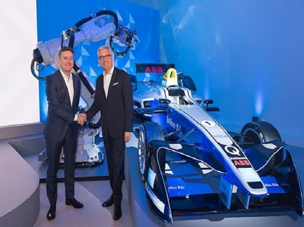 Ulrich Spiesshofer, CEO of ABB, and Alejandro Agag, founder and CEO of Formula E