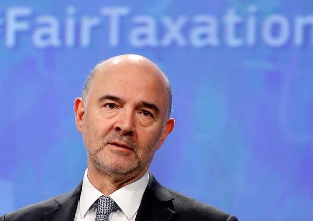 European Economic and Financial Affairs Commissioner Pierre Moscovici addresses a news conference. Photo: Reuters.