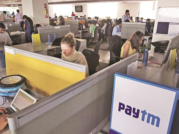 Paytm employees at the One97 Communications headquarters in Noida, near Delhi   Photo: Bloomberg