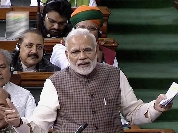 Narendra Modi in Lok Sabha. Photo: PTI