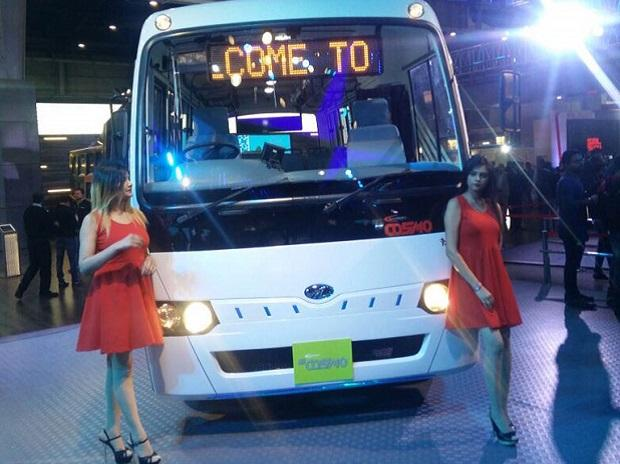 mahindra, electric bus