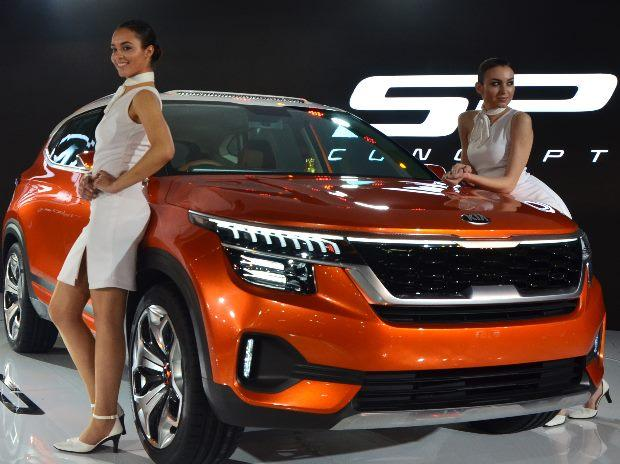 Car Expo Standsaur : Auto expo kia bets on high level of localisation for