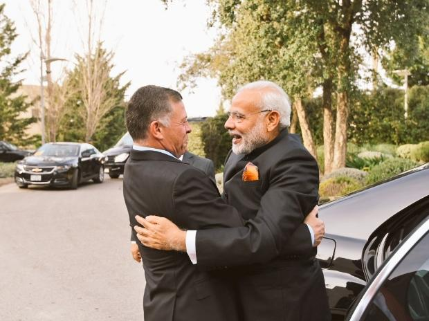 Narendra Modi PM Narendra Modi had a very coordial meeting with His Majesty King of Jordan immediately upon arrival in Amman.