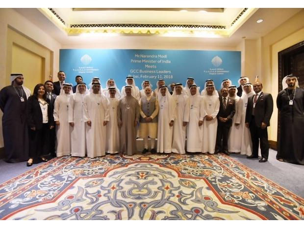 PM Modi with business leaders from Gulf Cooperation Council countries