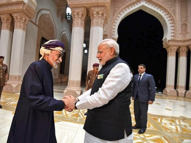 PM Modi with Sultan Qaboos