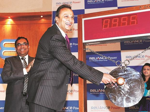 Anil Ambani, chairman of Reliance Group, at the listing ceremony of Reliance Power at the BSE in Mumbai on February 11, 2008 Reuters
