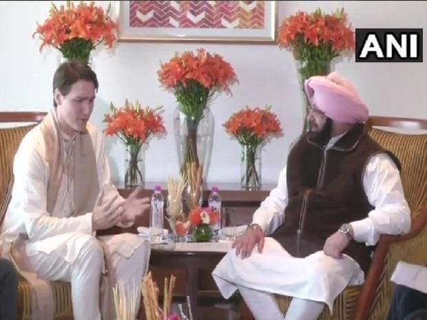 Justin Trudeau with Amrinder Singh