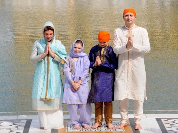 Justin Trudeau at Golden Temple