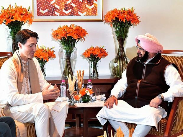 Justin Trudeau with Amrindar Singh