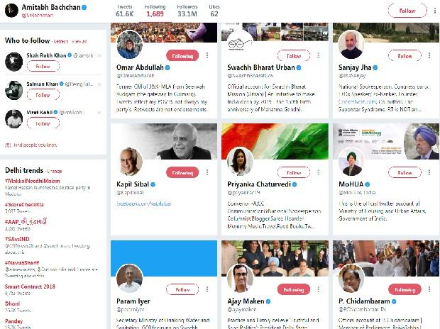 Twittter account of Amitabh Bacchan