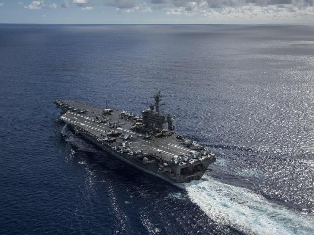 USA  aircraft carrier arrives in Vietnam for landmark visit