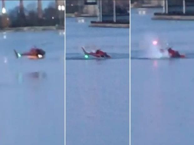 5 dead after helicopter crashes in New York's East River, pilot