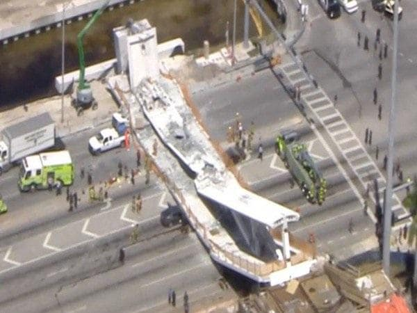 collapse of a footbridge over a Ramaphosa must 'reprimand' cele over protection of whistle blowers  emergency services say the pedestrian bridge collapse may have been caused by an earth tremor.
