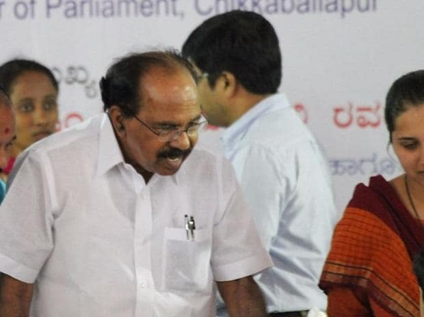 Congress issues notice to Veerappa Moily's son over 'contractors' tweet controversy