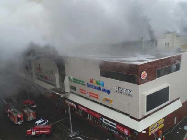 Children 'among dead' after shopping centre fire in Kemerovo, western Siberia