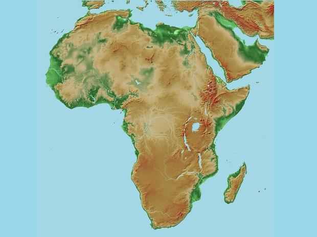 Africa geograhical map