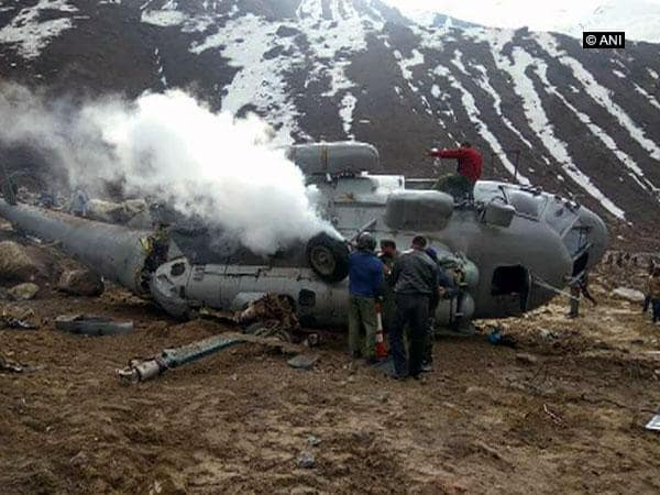 Indian Air Force Mi-17 Helicopter Crashes Near the Himalayas