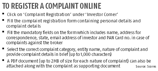 Filing stock-related complaints against erring companies gets easier