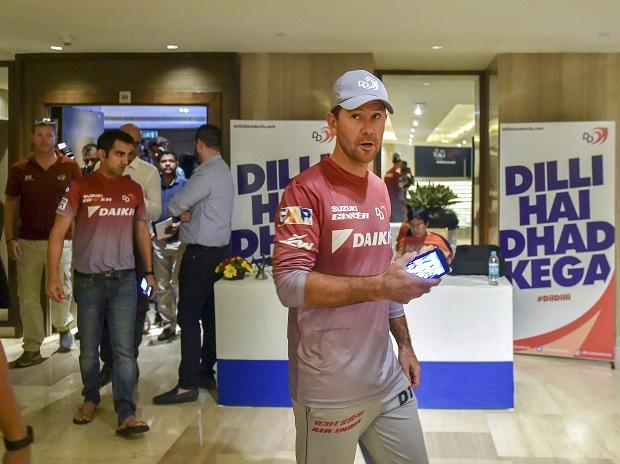 IPL 2018, Delhi Daredevils coach Ricky Ponting with team captain Gautam Gambhir leave after a press conference ahead of IPL 2018 in New Delhi. Photo: PTI