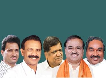 D V Sadananda Gowda, K S Eshwarappa, Jagadish Shettar, Ananth Kumar, Anant Kumar Hegde