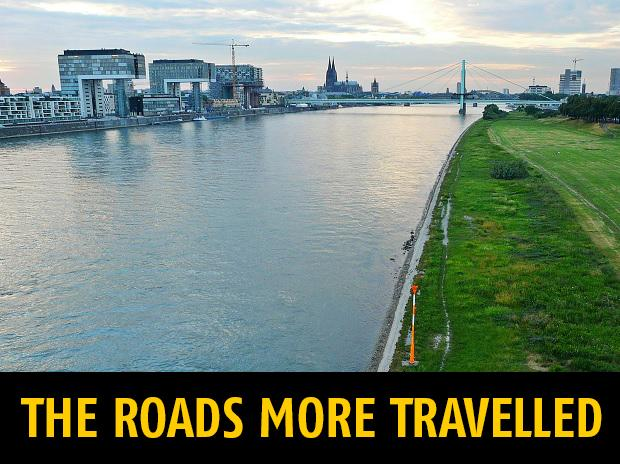 WALKS OF LIFE:  Each chapter in the book is based on actual memoirs of travellers who had followed historic routes. The Rhine river. Photo: Reuters