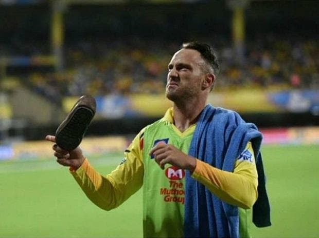 A shoe was hurled at CSK players during an IPL match in Chennai. Photo: Twitter