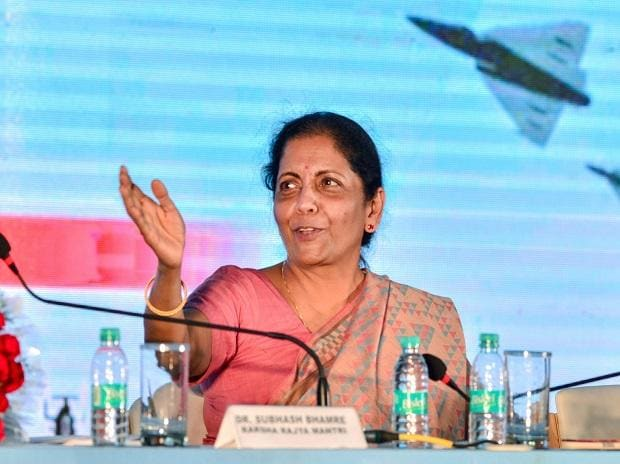 Chennai: Defence Minister Nirmala Sitharaman addresses  a press conference on the first day of the Defexpo2018, in Chennai on Wednesday. The Expo is being held between April 11 and 14. Prime Minister Narendra Modi is set to officially inaugurate the