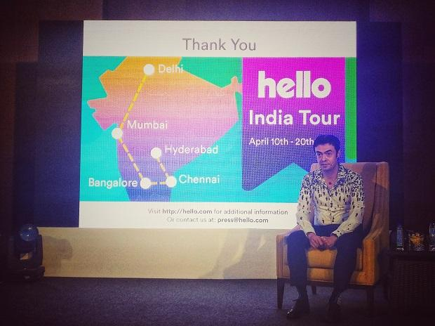 Orkut Buyukkokten at the India launch event of Hello Network