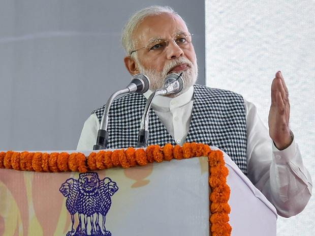 Prime Minister Narendra Modi addressing at the inauguration of the Dr. Ambedkar National Memorial at 26 Alipur Road, Delhi on Friday