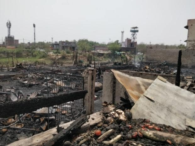 Rohingya colony now in ashes