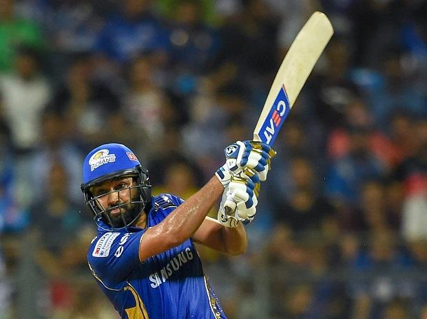 Rohit Sharma in action against RCB. Photo: PTI