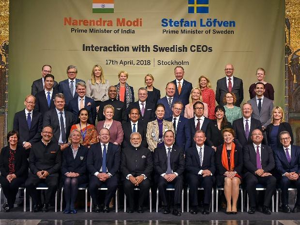 Narendra Modi in Sweden