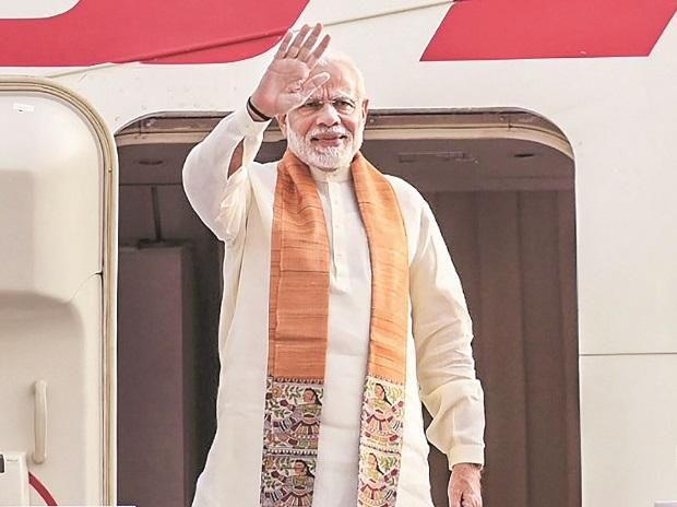 Prime Minister Narendra Modi emplanes for Wuhan, China, on his three-day visit from New Delhi. (Photo: PTI)