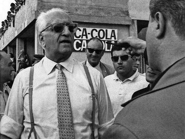 A 1967 photograph of Enzo Ferrari