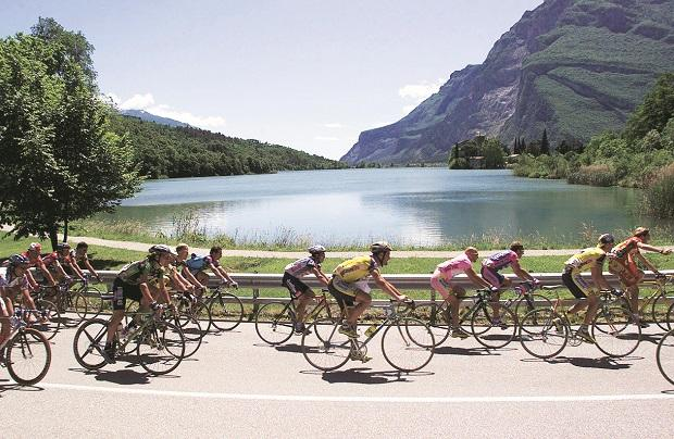 The Giro D'Italia (above), the first of Europe's three grand tours of cycling, kicked off on May 4