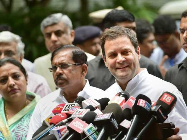 Karnataka Election 2018: Congress President Rahul Gandhi addresses the media in Bengaluru