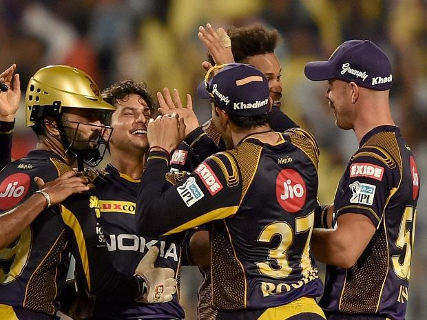 KKR vs RR IPL 2018 Kolkata Knight Riders bowler Kuldeep Yadav reacts after the dismissal of Rajasthan Royals Ben Stokes during their IPL 2018 cricket match in Kolkata