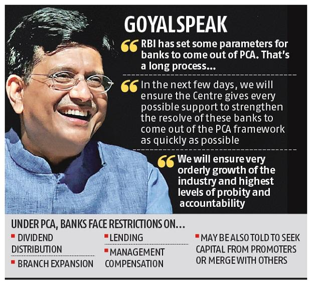 Centre may ask RBI to ease prompt corrective action framework