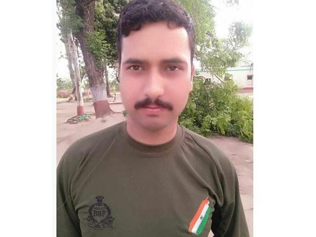 Photo of BSF Constable Sitaram Upadhyay, who lost his life in ceasefire violation by Pakistan in RS Pura sector of #JammuAndKashmir