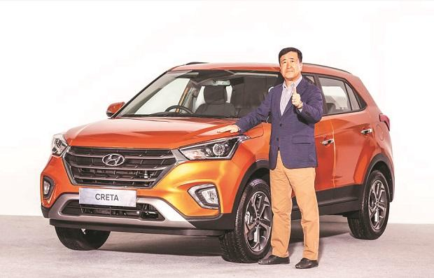 Y K Koo, MD & CEO, Hyundai Motor India, unveils the 2018 Creta, priced between ~943,908 and ~1.5 million  on Monday	photo: Company