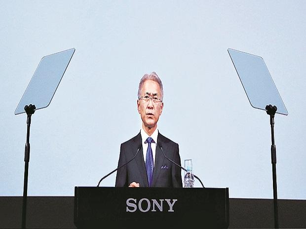 Sony Corp's CEO Kenichiro Yoshida attends a press conference at the company's headquarters in Tokyo on Tuesday