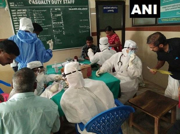 Two more people suspected to be infected by #NipahVirus have died today in Kozhikode Medical College hospital. Both were being treated in the isolation ward. Samples sent for tests. #Kerala. (Photo: ANI)