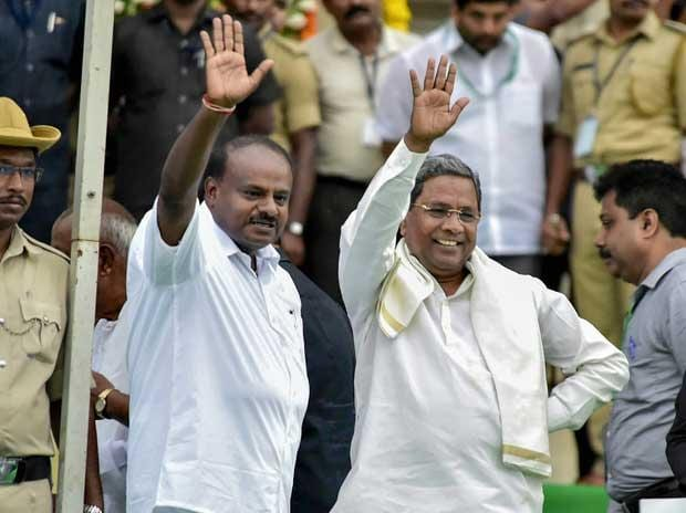Kumaraswamy swearing-in highlights: Opposition power play in Karnataka