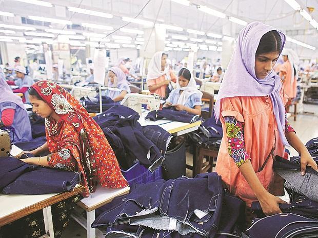 textile, working women