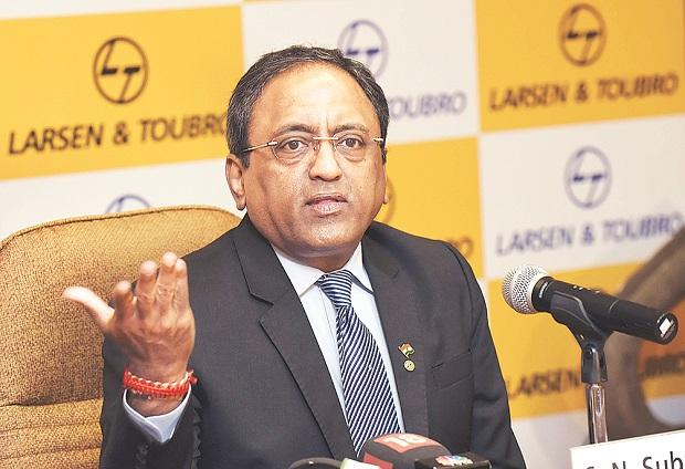 S N Subrahmanyan, chief executive officer and managing director, L&T, at the annual results press meet in Mumbai on Monday  	Photo: Kamlesh Pednekar