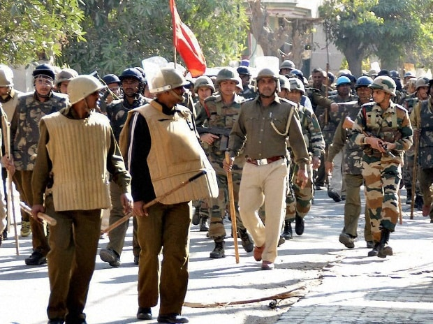 File Photo: Heavy security deployment on account of the 2016 Jat protests, in Rohtak.