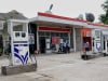A closed petrol pump during the strike by oil tankers association of J&K due to the unrest in Kashmir valley. PTI Photo